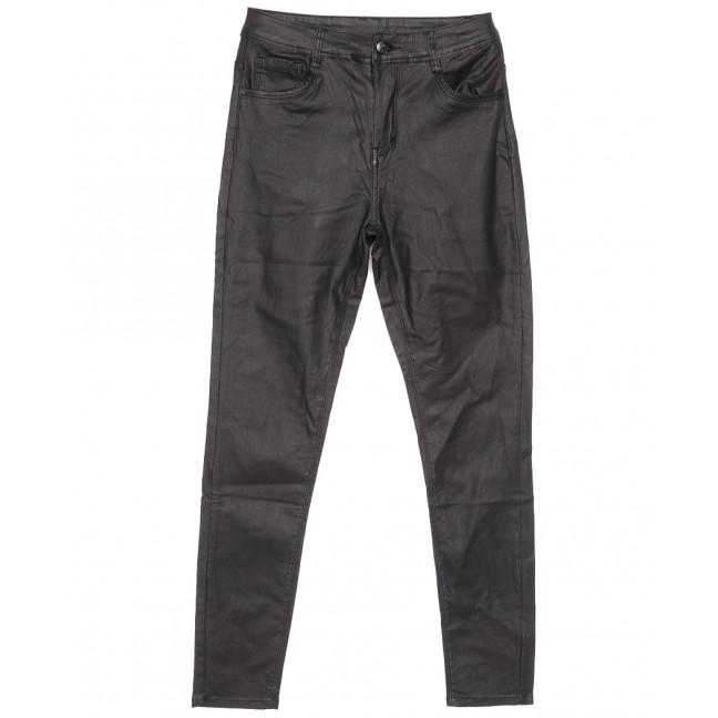 8062 Moon girl брюки женские полубатальные на байке из кожзама черные зимние стрейчевые (29-35, 6 ед.) Moon Girl: артикул 1116385