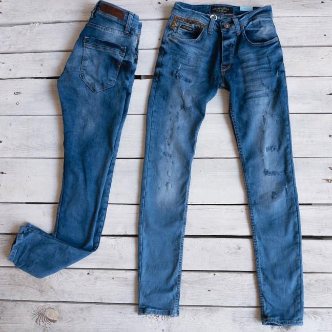 0213 Exclusive джинсы мужские синие весенние стрейчевые (29-36,8 ед.) Exclusive: артикул 1116837