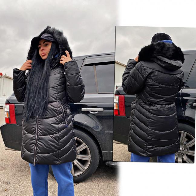Куртка черная женская зимняя батальная 1911-2 Куртка: артикул 1116914