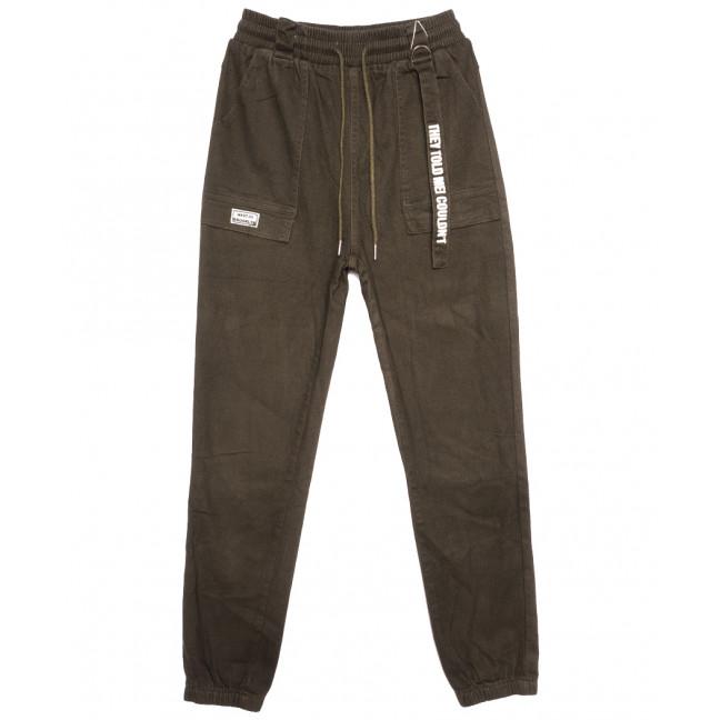 0707 (0707-L) Forest Jeans брюки джинсовые женские на резинке хаки осенние стрейчевые (25-30, 6 ед.) Forest Jeans: артикул 1116416