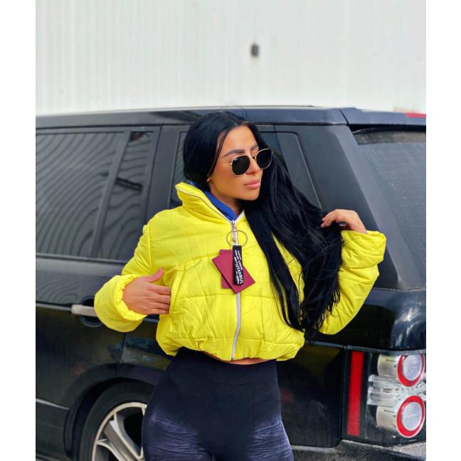 81288-4 желтая SRT куртка женская на синтепоне (4 ед. размеры:S.M.L.XL) SRT: артикул 1116629