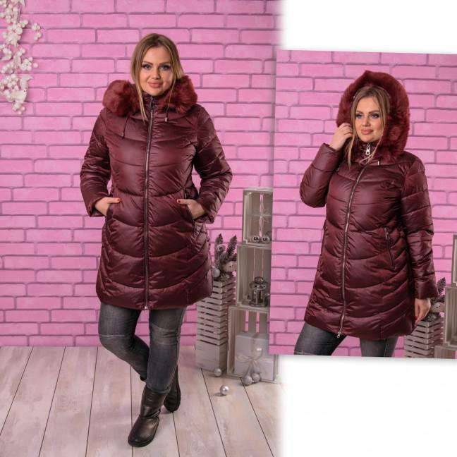 1911-3 бордовая куртка женская зимняя батальная (48-54, 4 ед.) Куртка: артикул 1116823
