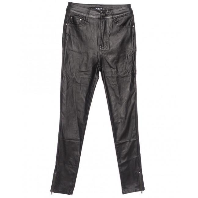 1001 Amor брюки женские на байке из кожзама черные зимние стрейчевые (26-32, 6 ед.) Amor: артикул 1116355