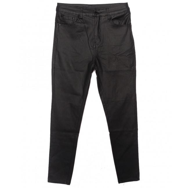 8058 Moon girl брюки женские батальные на байке из кожзама черные зимние стрейчевые (31-38, 6 ед.) Moon Girl: артикул 1116909