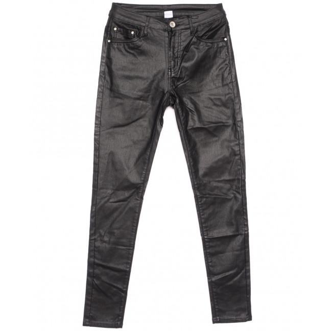 9520-13 M.Sara брюки женские на байке из кожзама черные зимние стрейчевые (27-32, 6 ед.) M.Sara: артикул 1116350