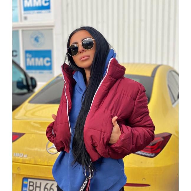 81288-3 бордовая SRT куртка женская на синтепоне (4 ед. размеры:S.M.L.XL) SRT: артикул 1116628