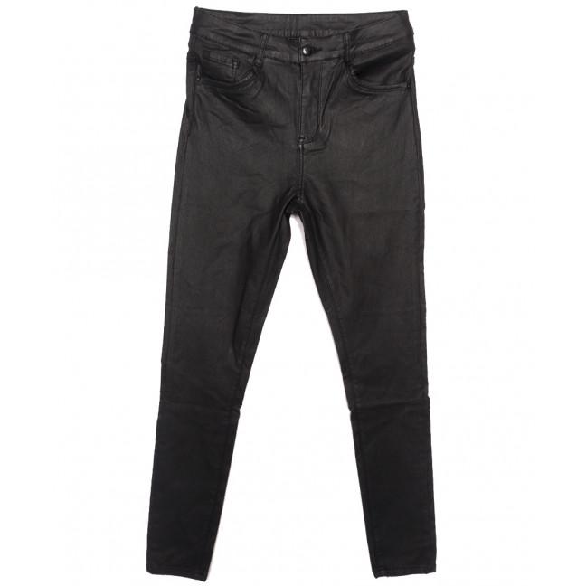 8061 Moon girl брюки женские батальные на байке из кожзама черные зимние стрейчевые (30-40, 6 ед.) Moon Girl: артикул 1116906
