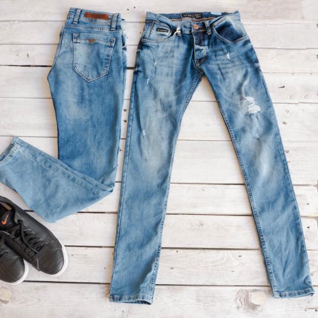 0174 Exclusive джинсы мужские синие весенние стрейчевые (29-36,8 ед.) Exclusive: артикул 1116838