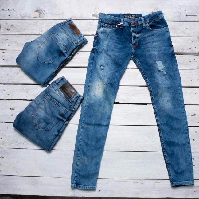 0198 Exclusive джинсы мужские синие весенние стрейчевые микс моделей (29-36,8 ед.) Exclusive: артикул 1116841