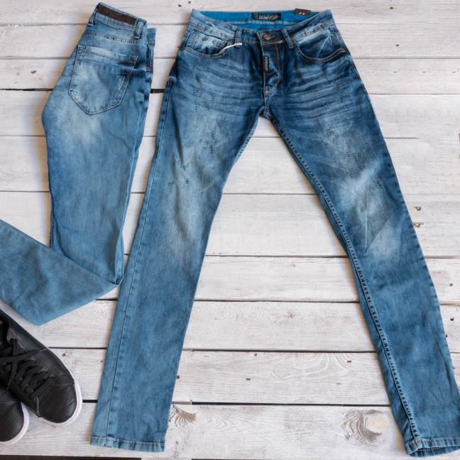 1651-01 Exclusive джинсы мужские синие весенние стрейчевые (29-36,9 ед.) Exclusive: артикул 1116847