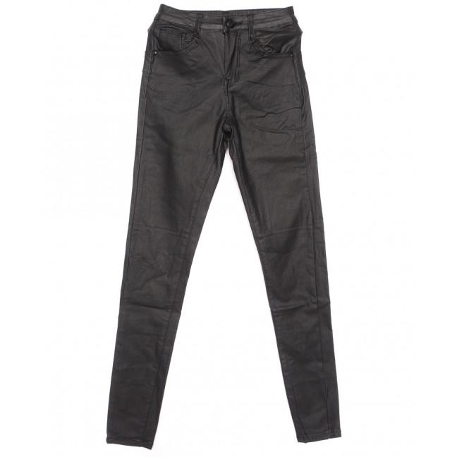 8052 Moon girl брюки женские на байке из кожзама черные зимние стрейчевые (27-32, 6 ед.) Moon Girl: артикул 1116363