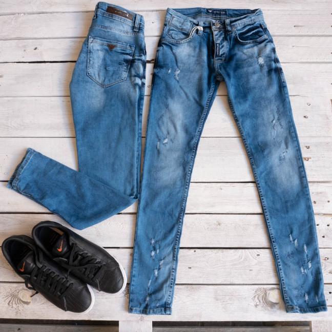 0028 Exclusive джинсы мужские голубые стрейчевые (8 ед. размеры: 29.30.31.32.32.33.34.36) Exclusive: артикул 1116843