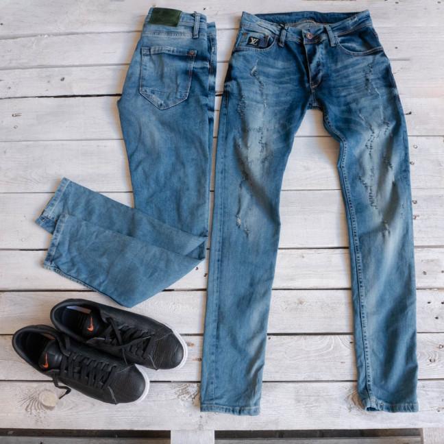 0099 Exclusive джинсы мужские синие весенние стрейчевые (29-36,8 ед.) Exclusive: артикул 1116840