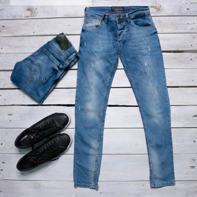 0155 Exclusive джинсы мужские синие весенние стрейчевые микс моделей (29,31,32,33,34,34,36,36, 8 ед.) Exclusive: артикул 1116849