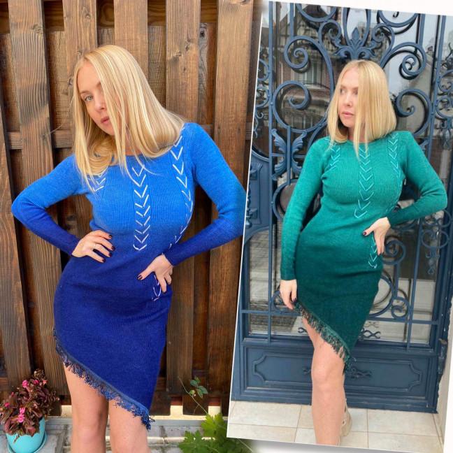 2111 женское платье зимнее микс цветов (универсал, 3 ед.) #партнер10 Платье: артикул 1116833
