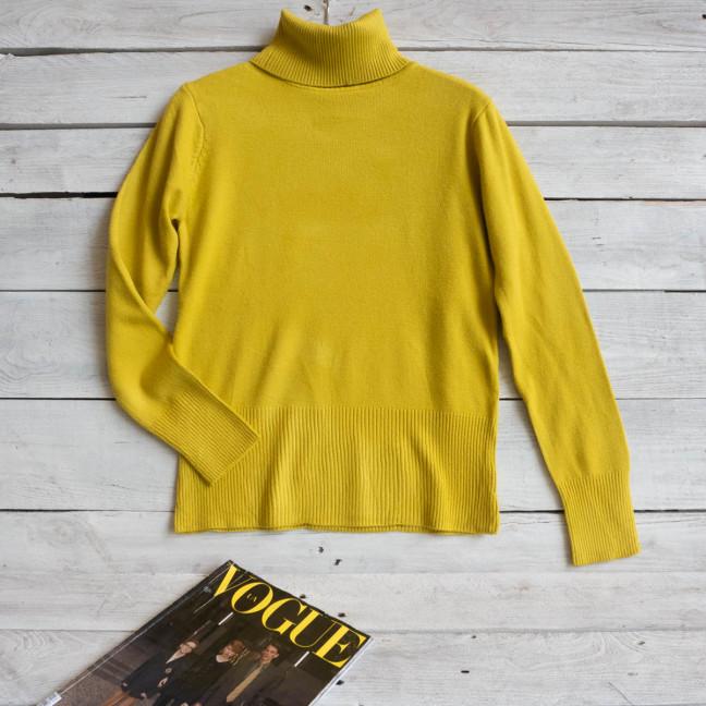 0808-11 лимонный гольф женский кашемировый ( 5 ед. размер: универсал: 44/46) Свитер: артикул 1117521