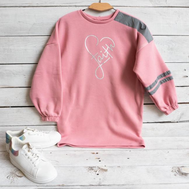 0999 Child Dreams розовый батник на флисе подростковый на девочку (3 ед. размеры: S.M.L) Child Dreams: артикул 1117361