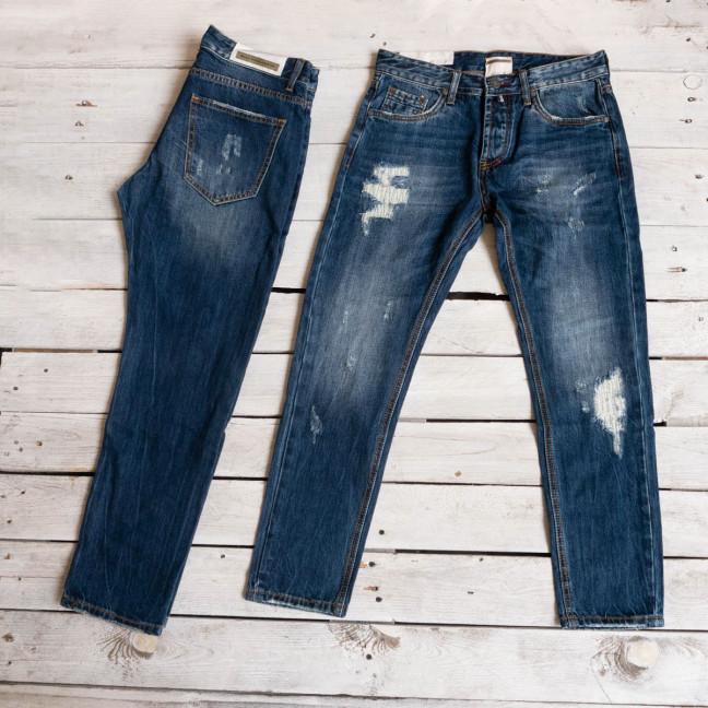 0181-03 мужские джинсы синие котоновые (6 ед. размеры: 30.34.34.34.36.38) Warren Webber: артикул 1117291