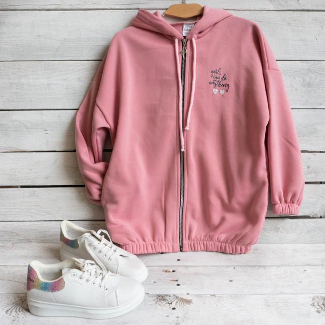 1002 Child Dreams розовый батник на флисе подростковый на девочку (3 ед. размеры: S.M.L) Child Dreams: артикул 1117355