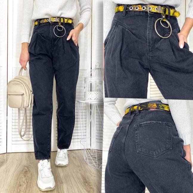 0491-1 Whats Up серые джинсы-баллон коттоновые (5 ед. размеры: 26.27.28.29.30) Whats up 90s: артикул 1117056