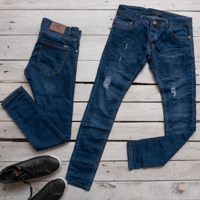 1114-01 GST джинсы мужские синие стрейчевые (7 ед. размеры: 31.31.31.31.32.32.36) Gst: артикул 1117014