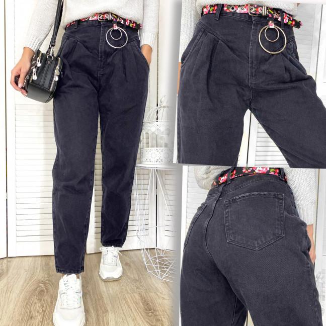 0491-2 Whats Up серые джинсы-баллон коттоновые (5 ед. размеры: 26.27.28.29.30) Whats up 90s: артикул 1117055