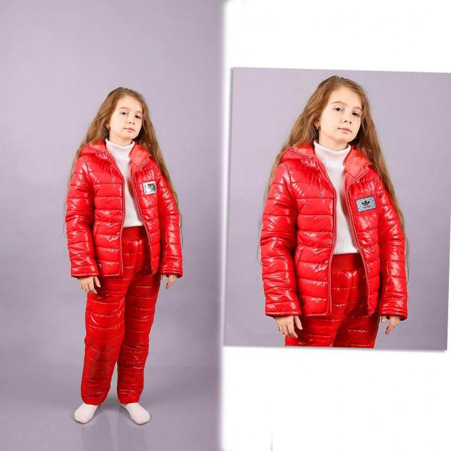 0115-4 Exclusive красная детская куртка на синтепоне микс 2-х моделей возраст 6-11 лет (6 ед. размеры: 116.122.128.134.140.146) Exclusive: артикул 1117444