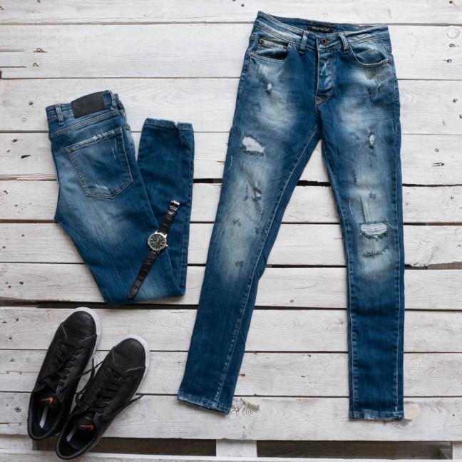1612 GST джинсы мужские синие стрейчевые (8 ед. размеры: 29.30.31.32.32.33.34.36) Gst: артикул 1117019