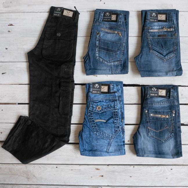 1059 Vigoocc джинсы подростковые на мальчика микс 5 моделей (34 ед., размеры от 7 до 14 лет) #партнер10 Vigoocc: артикул 1117122
