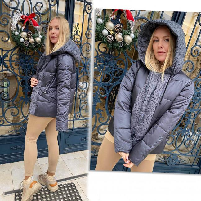 1091-2 LADY YEP графитовая куртка женская еврозима  (3 ед. размеры: 42.44.46) Lady Yep: артикул 1117314