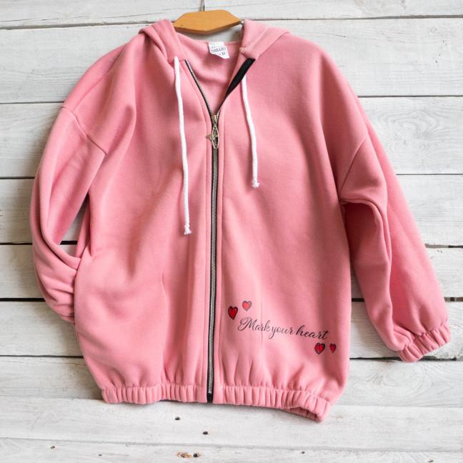 1003 Child Dreams розовый батник на флисе подростковый на девочку (3 ед. размеры: S.M.L) Child Dreams: артикул 1117354