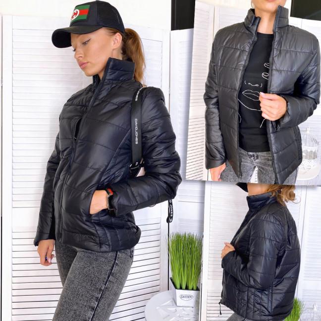 1715 куртка женская демисезонная черная на синтепоне (3XL,4XL, 2 ед.) Куртка: артикул 1110610