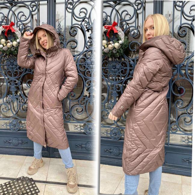 1071-2 Lady Yep коричневая куртка женская еврозима (3 ед. размеры: 42.44.46) Lady Yep: артикул 1117585