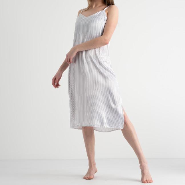 7152 белая ночнушка женская из атласа (4 ед. размеры: 42.44.46.48) Ночнушка: артикул 1117655