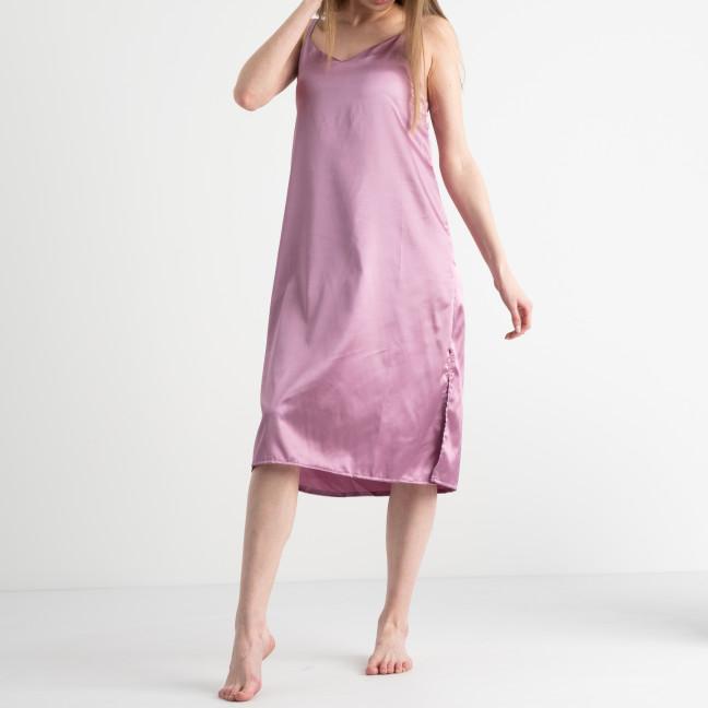 7155 розовая ночнушка женская из атласа (4 ед. размеры: 42.44.46.48) Ночнушка: артикул 1117664