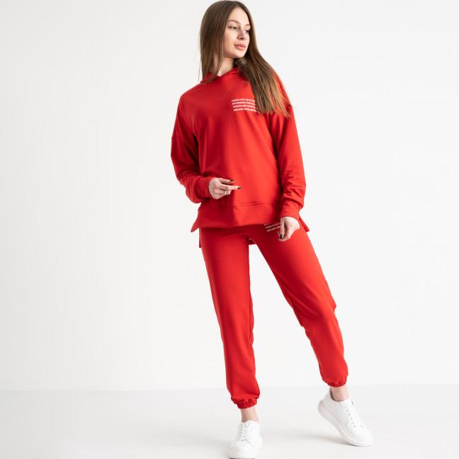 15115-9 красный спортивный костюм женский из двунитки (4 ед. размеры: S.M.L.XL) Спортивный костюм: артикул 1118897