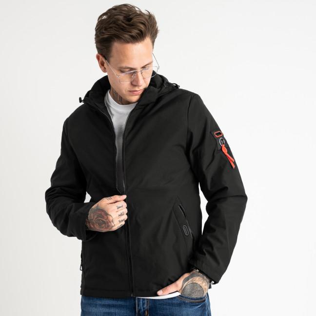 0198-1 RZZ черная куртка мужская с капюшоном (5 ед.размеры: 48.50.52.54.56) RZZ: артикул 1119104