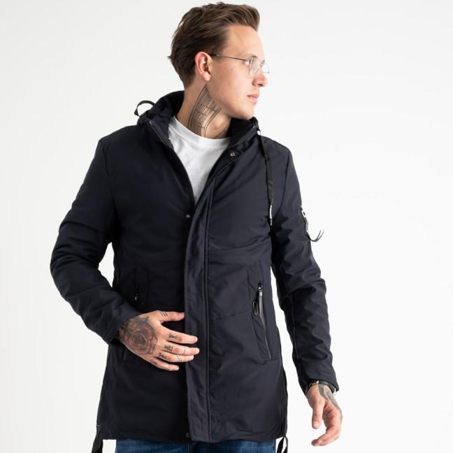 8805-2 RZZ синяя куртка мужская с капюшоном (5 ед.размеры на бирке: L.XL.2XL.3XL.4XL) RZZ: артикул 1119097