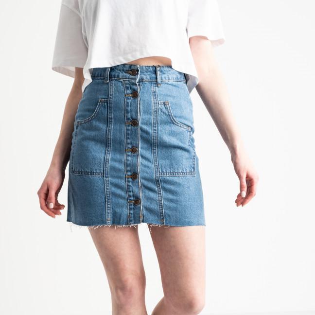 0059-077 Lovest юбка джинсовая на пуговицах голубая котоновая (6 ед. размеры: 34.36.36.38.38.40) Юбка: артикул 1118987