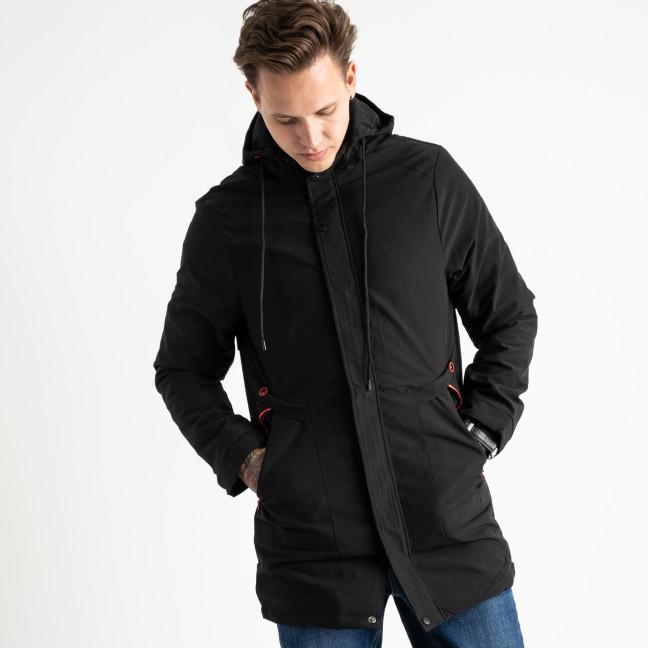 8806-1 RZZ черная куртка мужская с капюшоном (5 ед.размеры на бирке: L.XL.2XL.3XL.4XL) RZZ: артикул 1119093