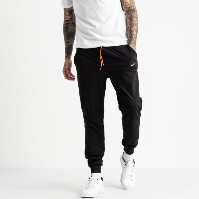 1621-12 черные мужские спортивные штаны из двунитки (4 ед. размеры: M.L.XL.2XL) Спортивные штаны: артикул 1118900