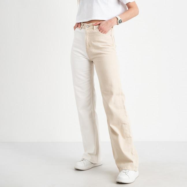 0855-8 Ponza джинсы женские двухцветные бежевый с белым котоновые (8 ед. размеры:34/2.36/2.38/3.40) Ponza: артикул 1122548_1