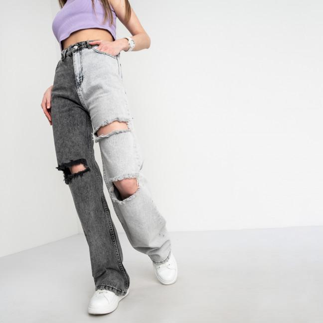 0844-6 Ponza джинсы женские двухцветные темно-серый с светло-серым котоновые (6 ед. размеры:34.36/2.38/2.40) Ponza: артикул 1122555_1