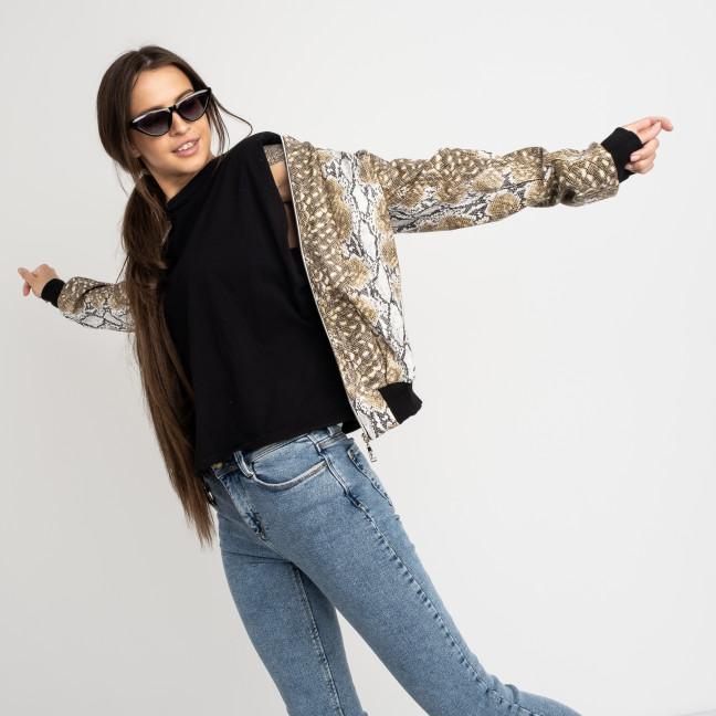 0599-2 ветровка женская кожаная питон из экокожи (3 ед. размеры: 42.44.46) Куртка: артикул 1123173