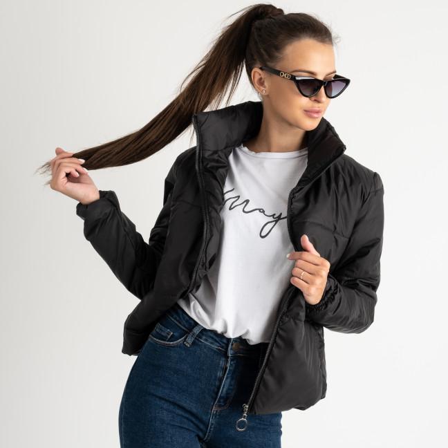 0410-1 черная куртка женская на синтепоне ( 3 ед. размеры : 42.44.46)  Куртка: артикул 1123352