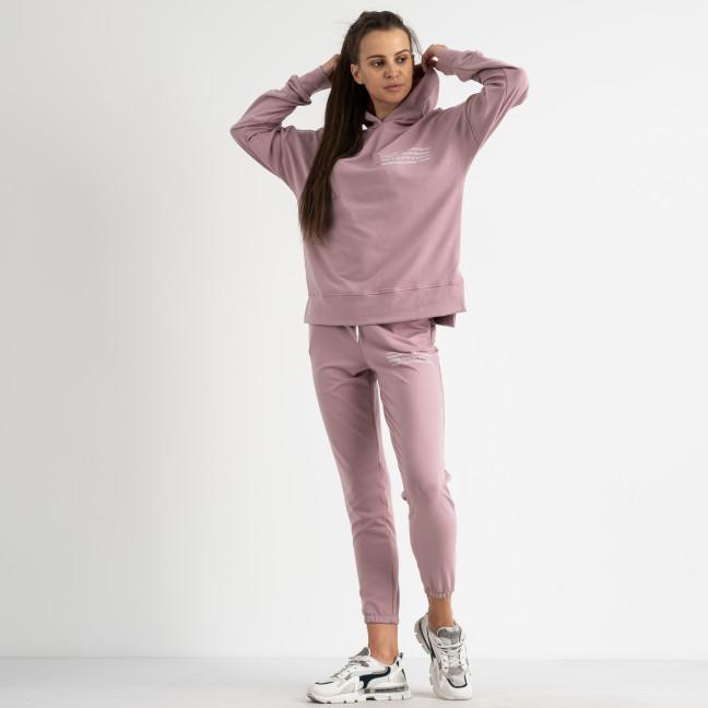 15115-31 Mishely розовый женский спортивный костюм из двунитки (4 ед. размеры: S.M.L.XL) Mishely: артикул 1123361
