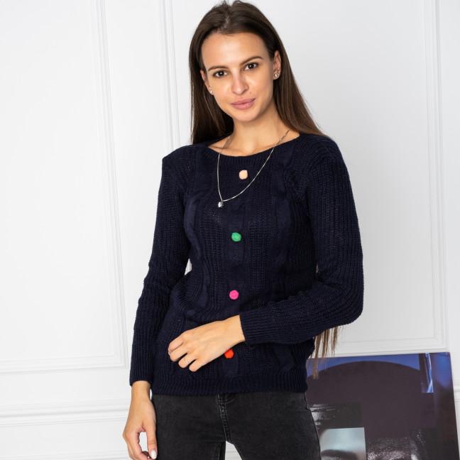 5109-2 свитер женский синий вязанный (3 ед. размеры: универсал 42-46) Свитер: артикул 1123655