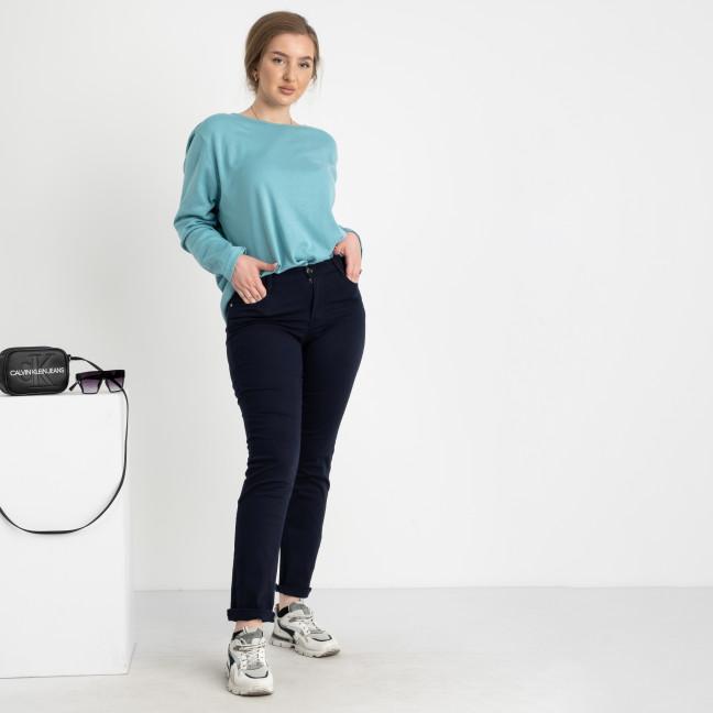 9760-1 R  Sunbird темно-синие брюки женские батальные стрейчевые ( 6 ед. размеры :33.34.35.36.37.38) Sunbird: артикул 1104234