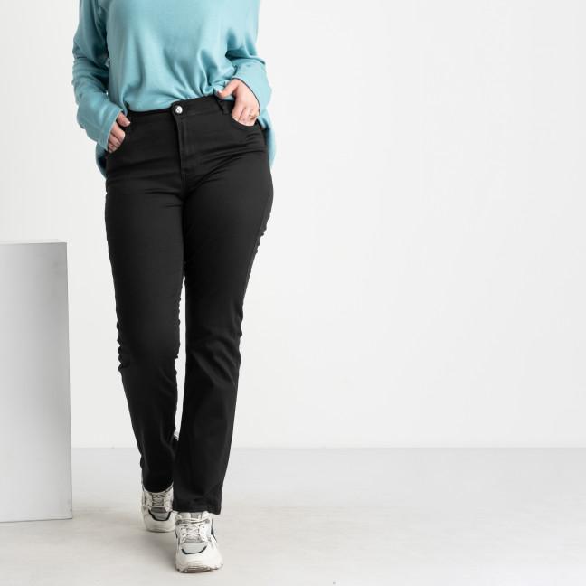 9803-1 Sunbird черные брюки женские батальные стрейчевые (6 ед. размеры: 35.36.37.39.40.42) Sunbird: артикул 1106641