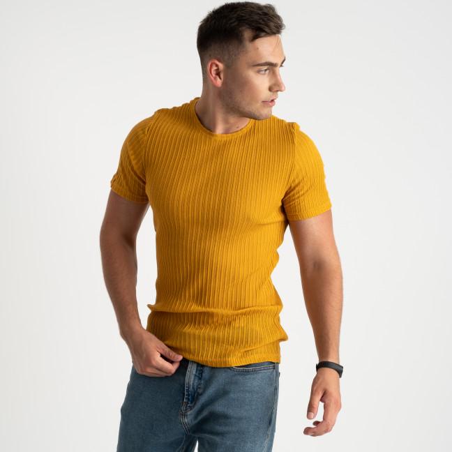 0013-2 MStore  желтая футболка полубатальная мужская (6 ед. размеры: M.L/2.XL/2.XXL) MStore: артикул 1123749